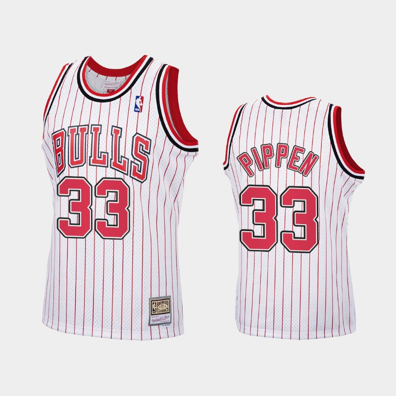 Reload Chicago Bulls Scottie Pippen White Hardwood Classics Jersey