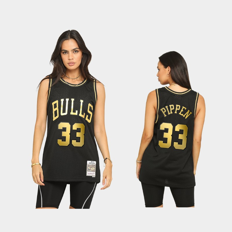 Chicago Bulls Scottie Pippen 2021 Golden Edition Black Limited Allocation Hardwood Classics Jersey