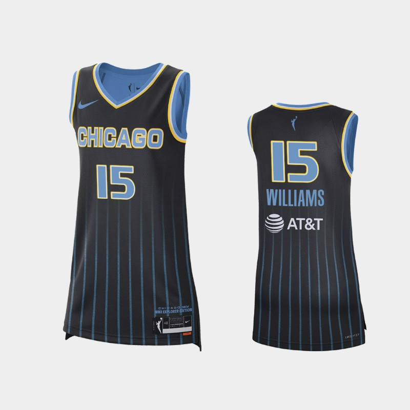 Chicago Sky Gabby Williams 2021 Explorer Edition Jersey - Black