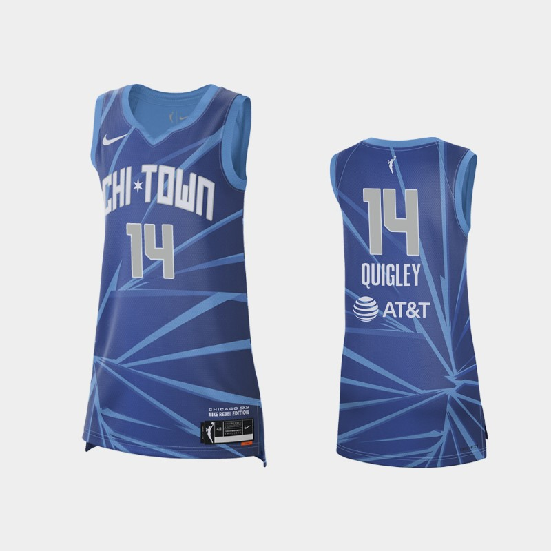 Chicago Sky Allie Quigley 2021 Rebel Edition Jersey - Blue