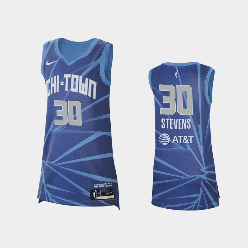 Chicago Sky Azura Stevens 2021 Rebel Edition Jersey - Blue