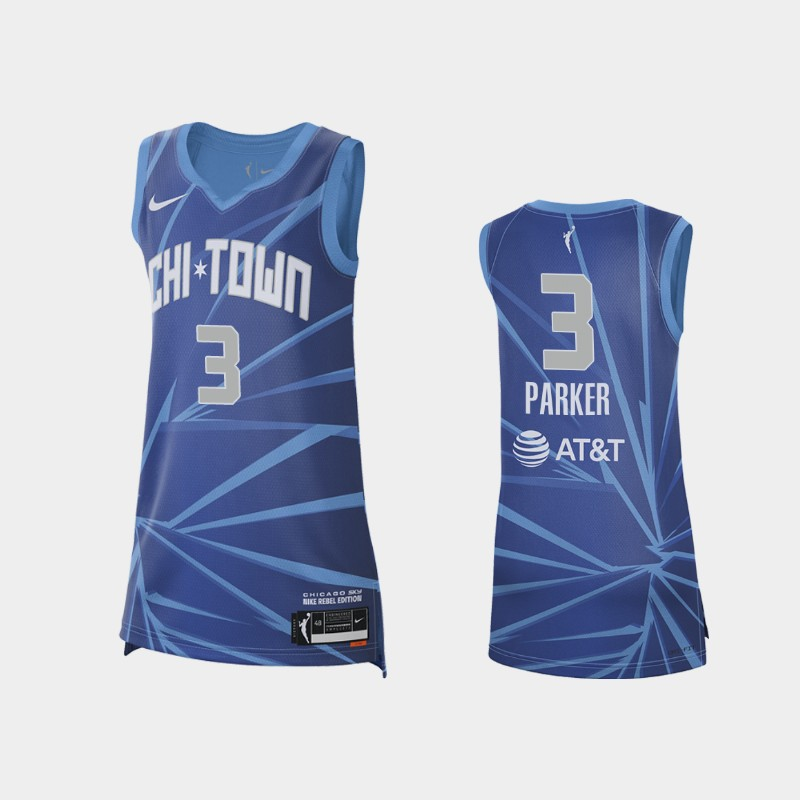 Chicago Sky Candace Parker 2021 Rebel Edition Jersey - Blue