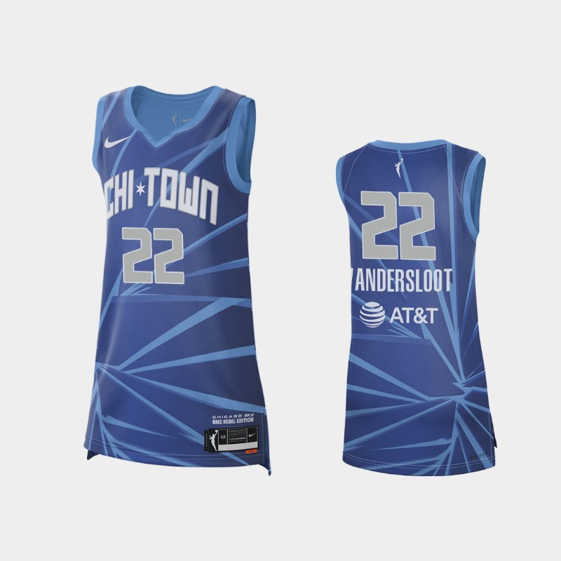 Chicago Sky Courtney Vandersloot 2021 Rebel Edition Jersey - Blue