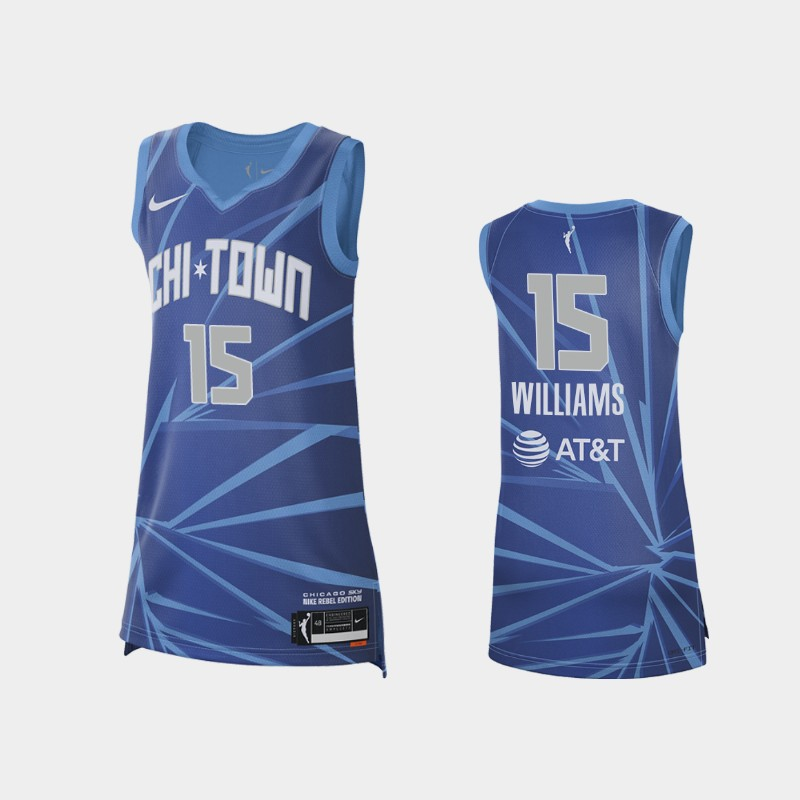 Chicago Sky Gabby Williams 2021 Rebel Edition Jersey - Blue