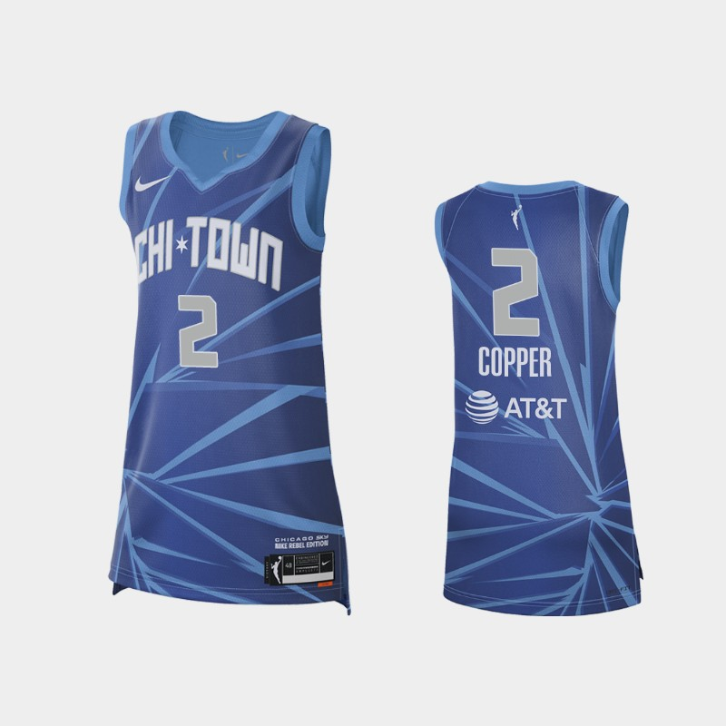 Chicago Sky Kahleah Copper 2021 Rebel Edition Jersey - Blue