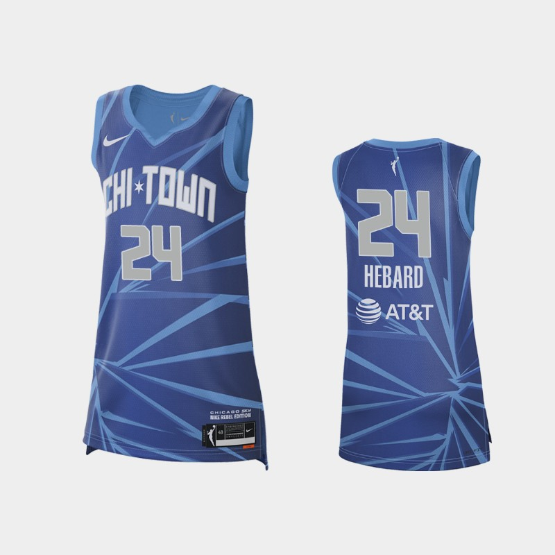 Chicago Sky Ruthy Hebard 2021 Rebel Edition Jersey - Blue
