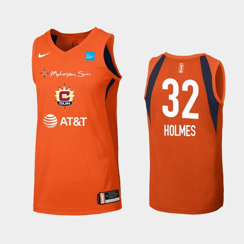 WNBA Connecticut Sun Bria Holmes Orange Primary Icon Jersey