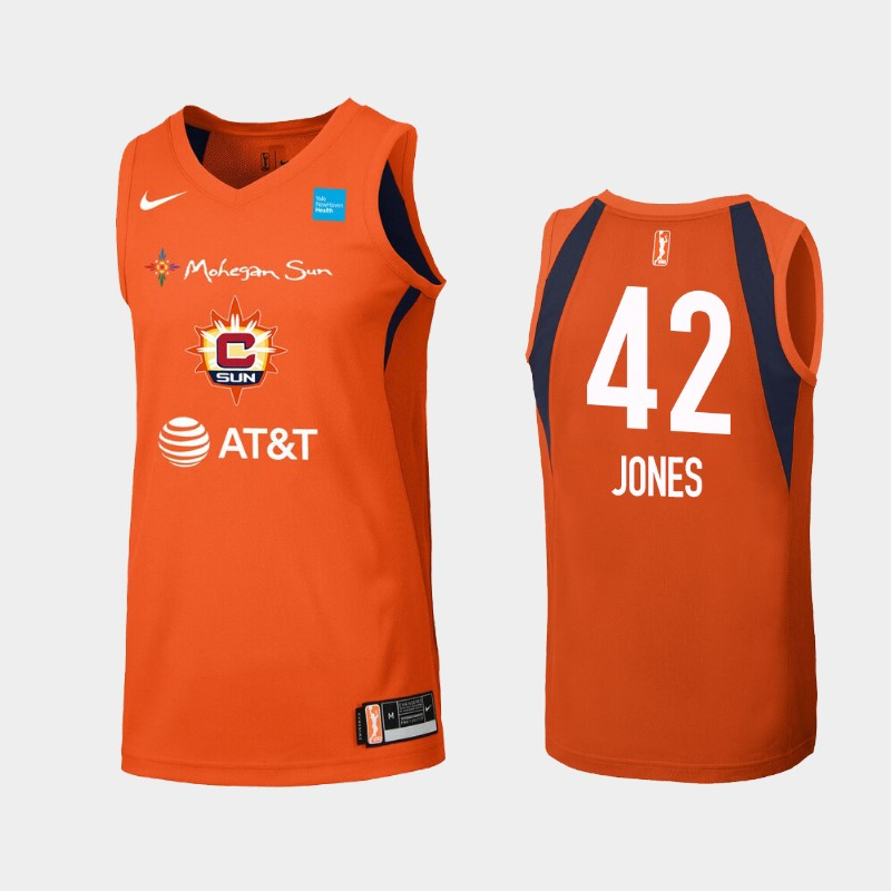 WNBA Connecticut Sun Brionna Jones Orange Primary Icon Jersey