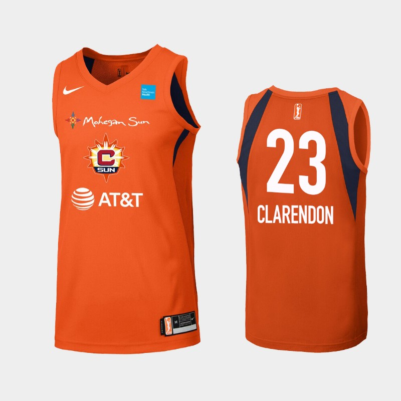 WNBA Connecticut Sun Layshia Clarendon Orange Primary Icon Jersey