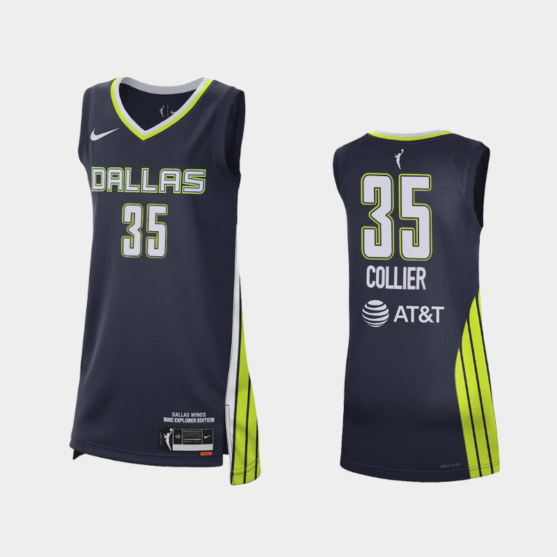 Dallas Wings Charli Collier 2021 Explorer Edition No. 1 WNBA pick Jersey - Navy