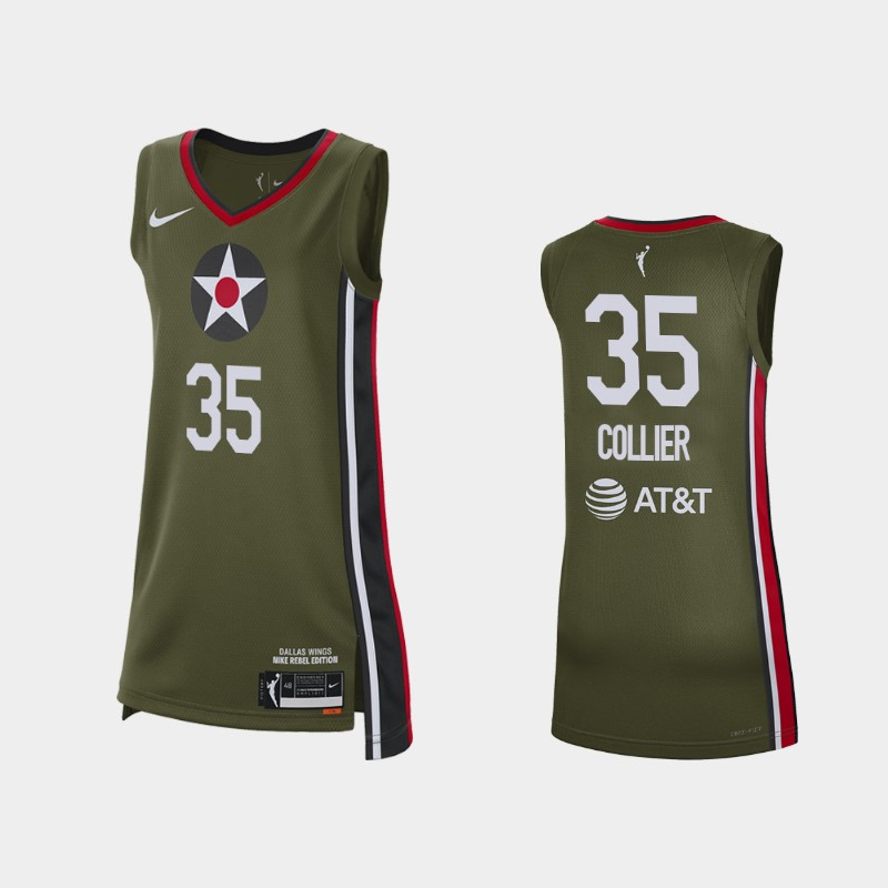 Dallas Wings Charli Collier 2021 Rebel Edition No. 1 WNBA pick Jersey - Green