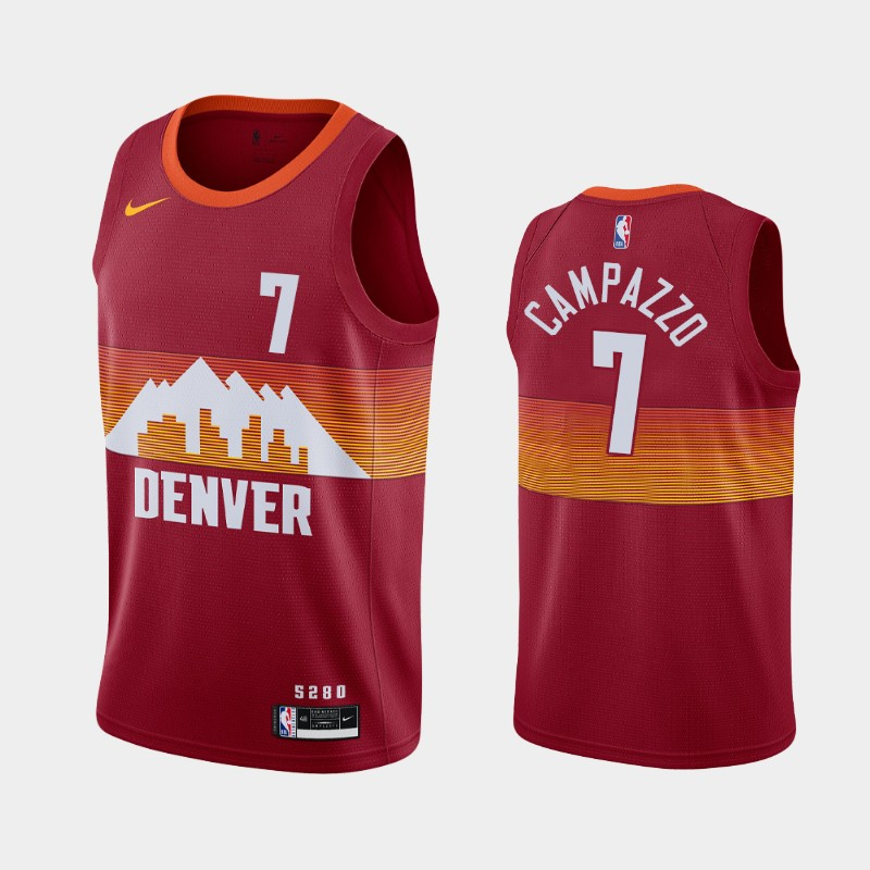 Denver Nuggets Facundo Campazzo 2020-21 City Jersey - Red