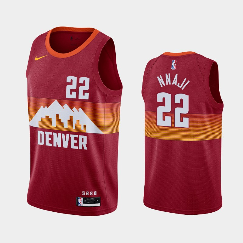 Denver Nuggets Zeke Nnaji 2020-21 City Jersey - Red