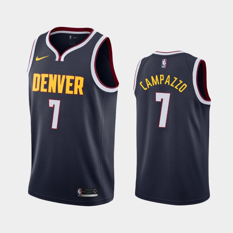 Denver Nuggets Facundo Campazzo 2020-21 Icon Jersey - Navy