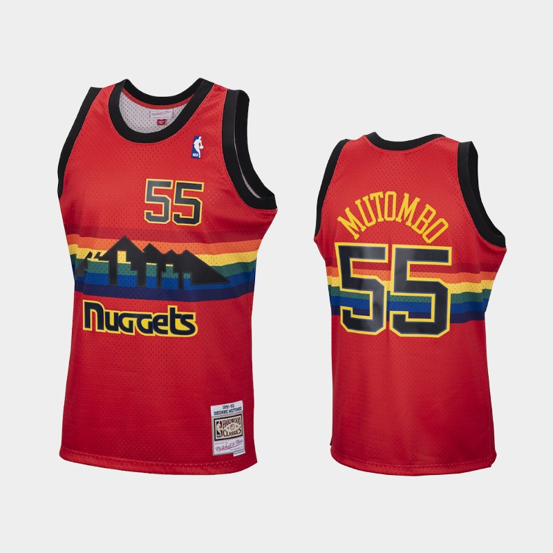 Reload Denver Nuggets Dikembe Mutombo Red Hardwood Classics Jersey