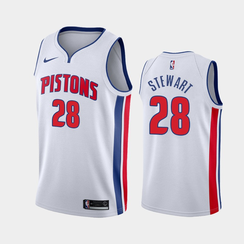 Detroit Pistons Isaiah Stewart Association 2020 NBA Draft First Round Pick Jersey - White