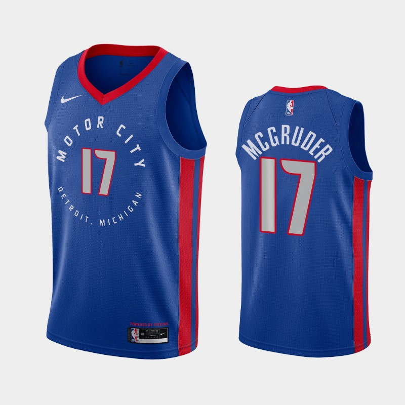 Detroit Pistons Rodney McGruder 2020-21 City Jersey - Blue
