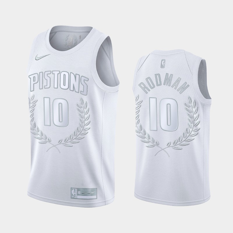 Detroit Pistons Dennis Rodman Glory Limited Hall of Fame White Jersey