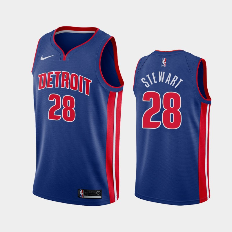 Detroit Pistons Isaiah Stewart Icon 2020 NBA Draft First Round Pick Jersey - Blue