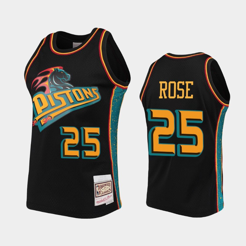 Detroit Pistons Derrick Rose Rings Black Collection Jersey