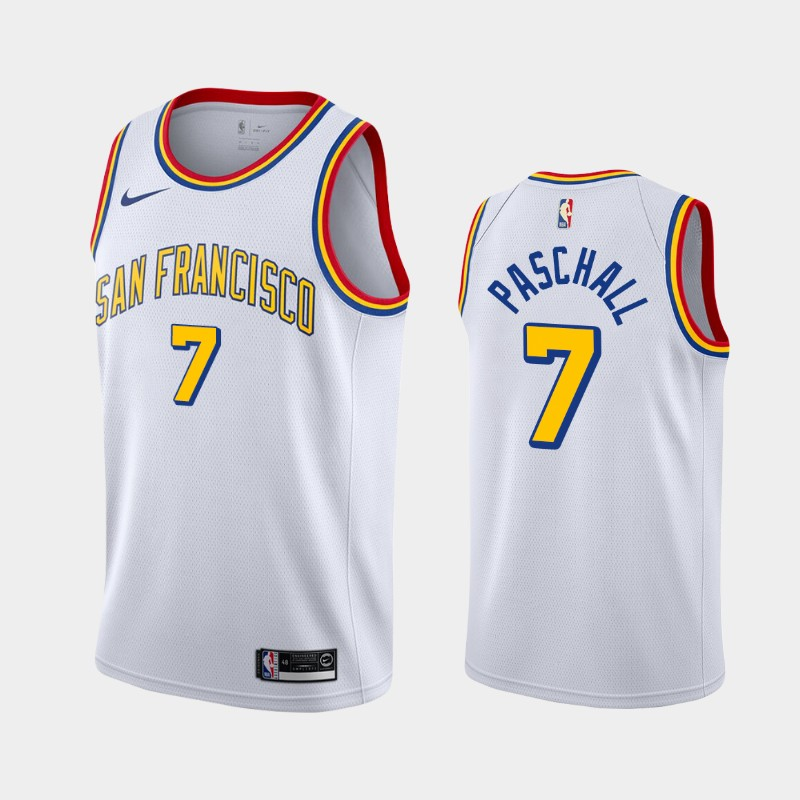 Golden State Warriors Eric Paschall 2019-20 Hardwood Classics White Jersey