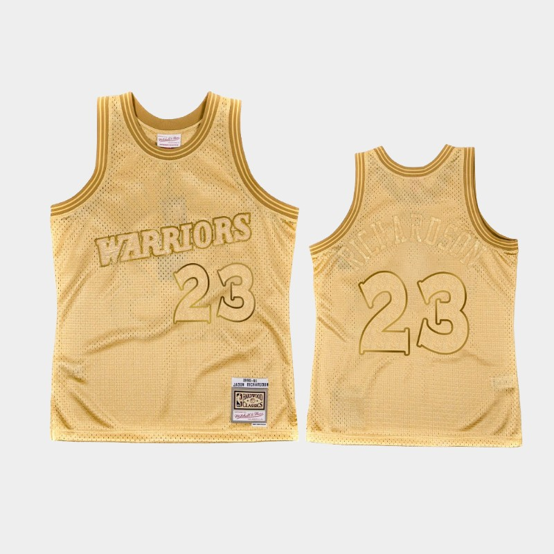 Midas SM Jason Richardson Warriors Gold Hardwood Classics Jersey