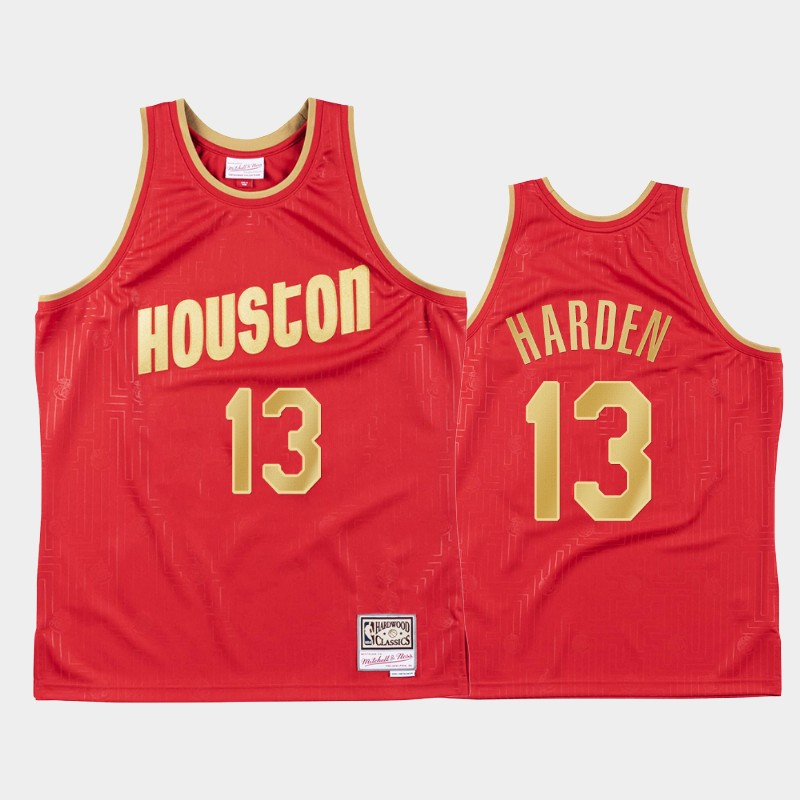 Houston Rockets James Harden 2020 Chinese New Year Red Jersey - Hardwood Classics