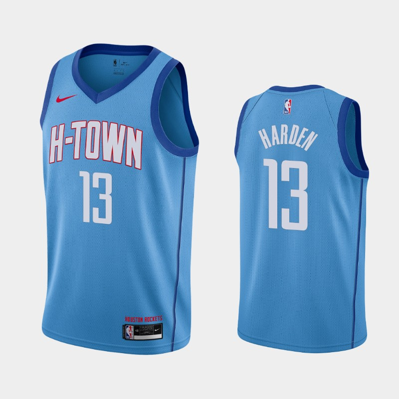 Houston Rockets James Harden 2020-21 City Jersey - Blue