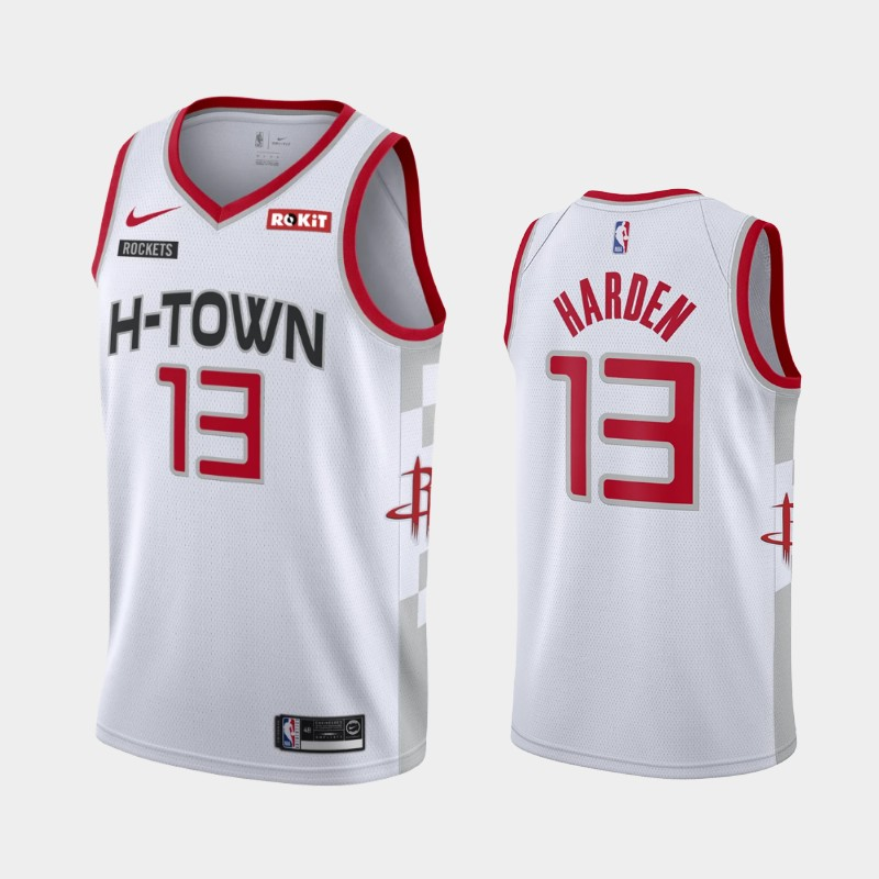 Houston Rockets James Harden 2019-20 City Jersey - White