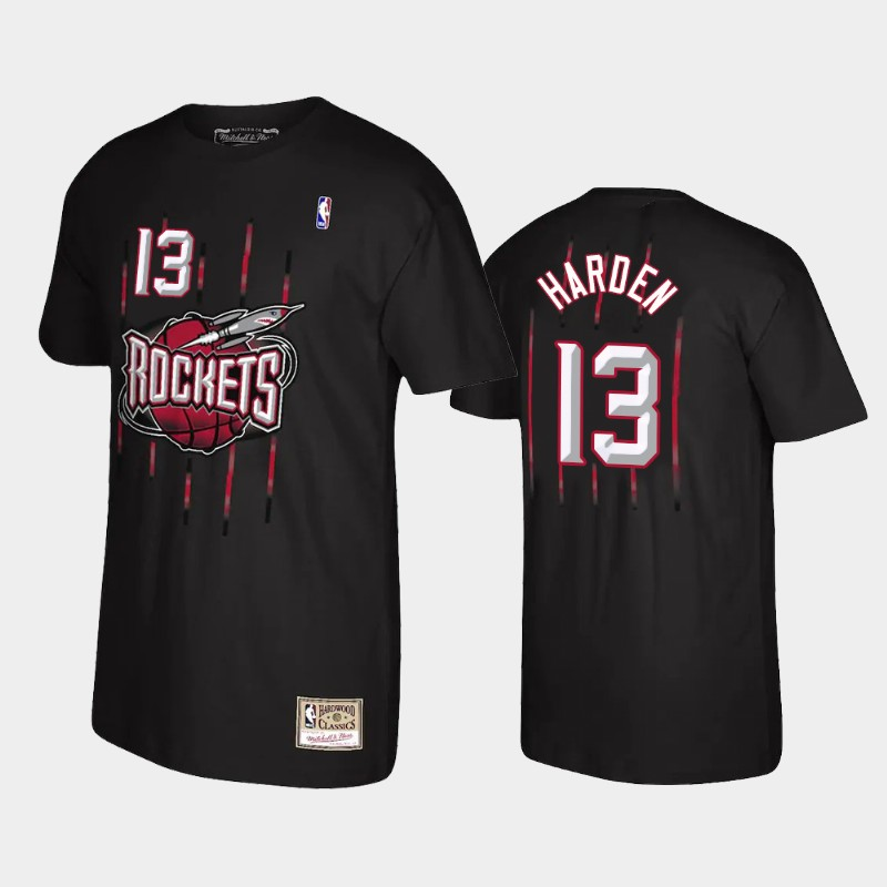 James Harden Houston Rockets Black Reload Name & Number T-Shirt