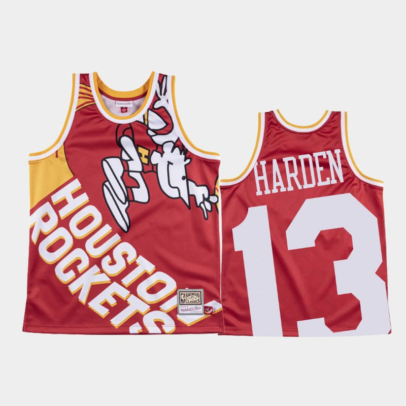 Rockets James Harden Big Face Red 1971 Original Logo Jersey