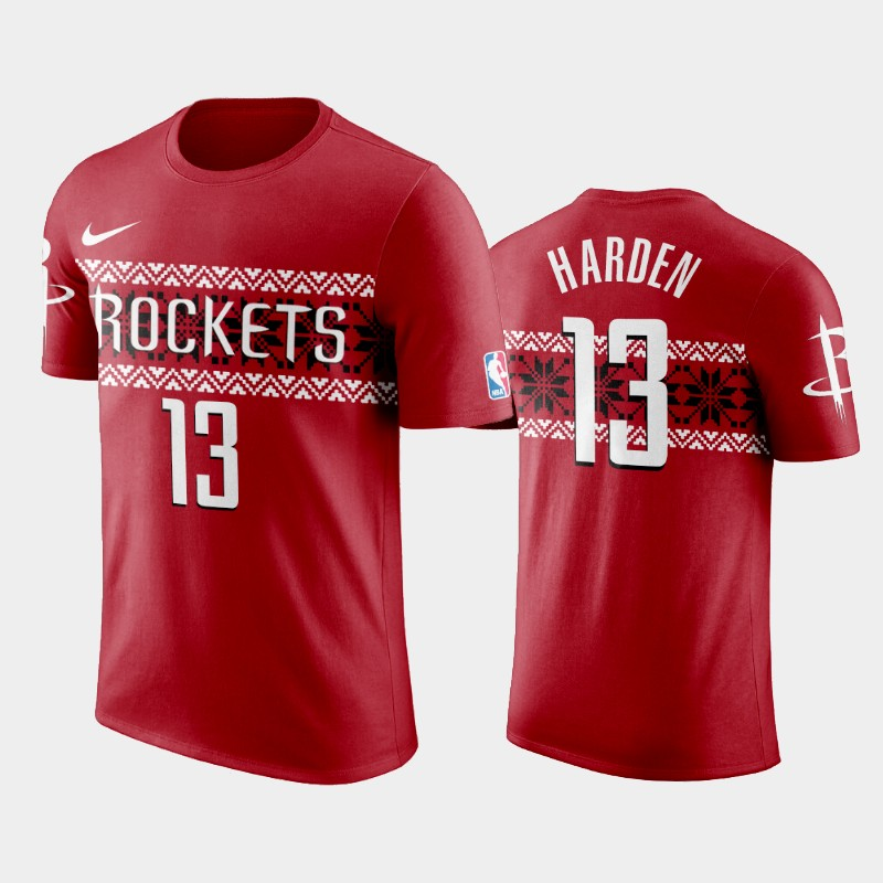 James Harden Houston Rockets Red Ugly Christmas Holiday T-Shirt