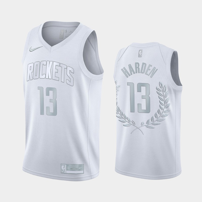 Houston Rockets James Harden 2012–2021 Retired Number Golory Exclusive Edition Jersey - Platinum