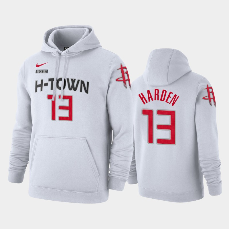 Houston Rockets James Harden City Pullover Hoodie - White
