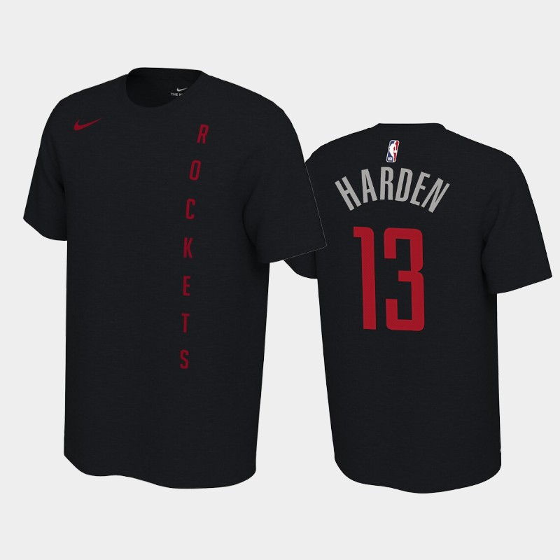 James Harden Houston Rockets Black Earned Edition T-Shirt