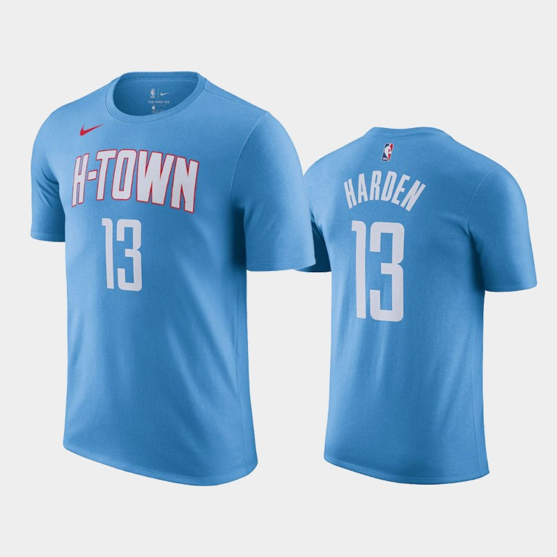 James Harden Houston Rockets Blue 2020-21 City T-Shirt