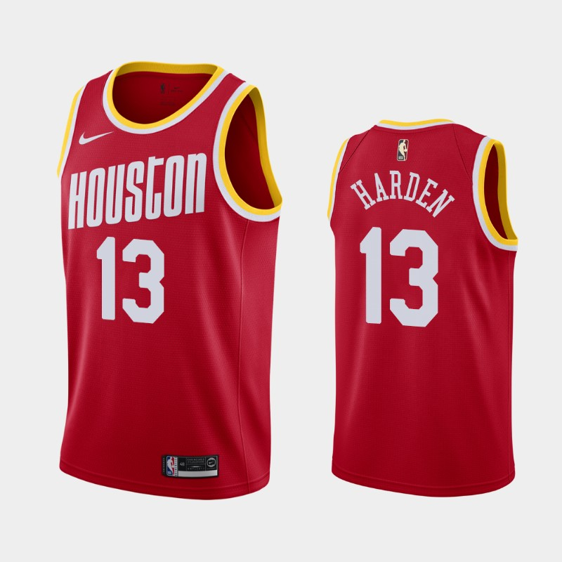 James Harden Houston Rockets Hardwood Classics Jersey Red