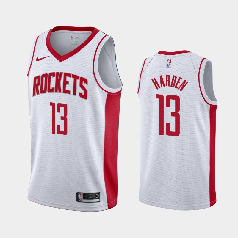 Men's James Harden Houston Rockets White 2019-20 Association Jersey