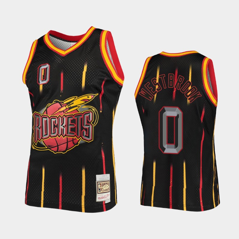 Houston Rockets Russell Westbrook Rings Black Collection Jersey