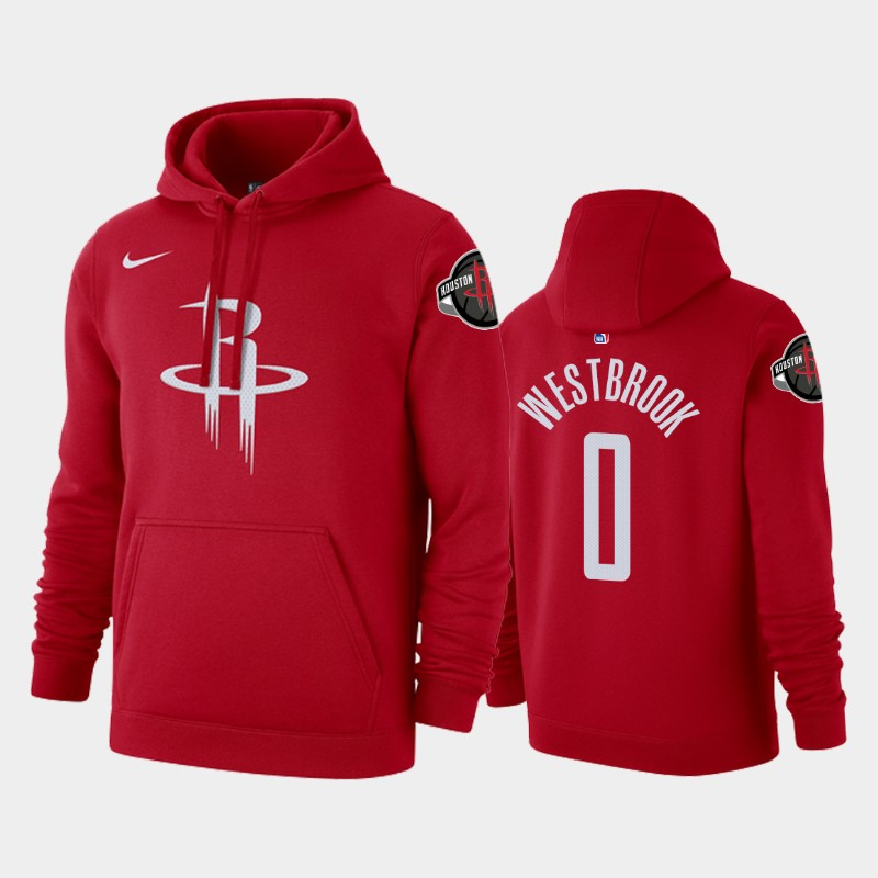 Houston Rockets Russell Westbrook Icon Pullover Hoodie - Red