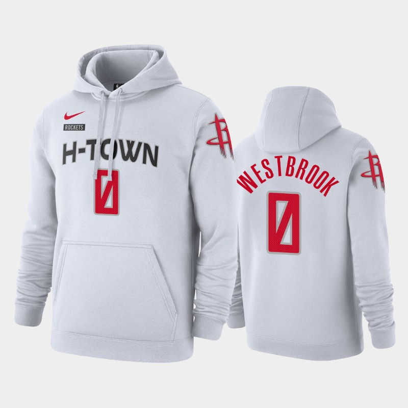 Houston Rockets Russell Westbrook City Pullover Hoodie - White