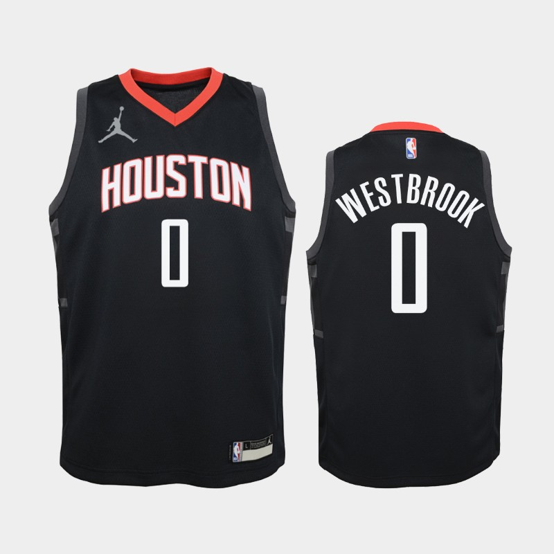 Youth 2020-21 Rockets Russell Westbrook Statement Red Jordan Brand Jersey