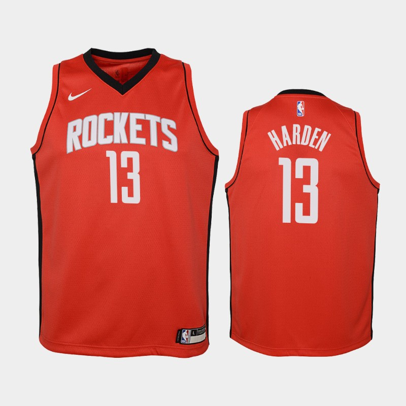 Youth James Harden 2019-20 Icon Red Jersey - Houston Rockets