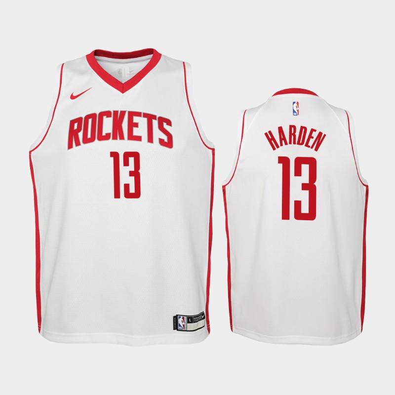 Youth James Harden 2019-20 Association White Jersey - Houston Rockets