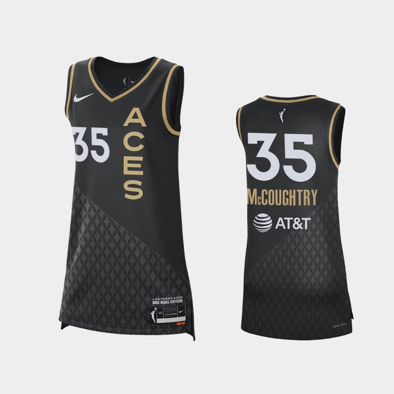 Las Vegas Aces Angel McCoughtry 2021 Rebel Edition Jersey - Black