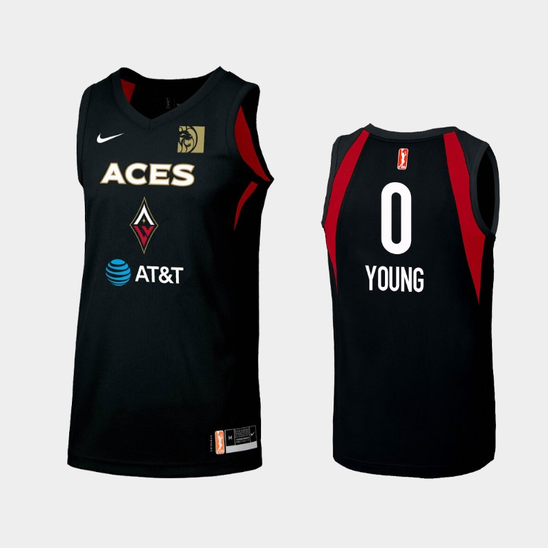WNBA Las Vegas Aces Jackie Young Black 2019 Primary Icon Jersey