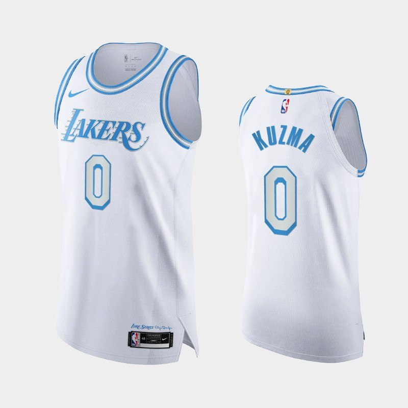 2020-21 Authentic City Los Angeles Lakers Kyle Kuzma Legacy of Lore Jersey White