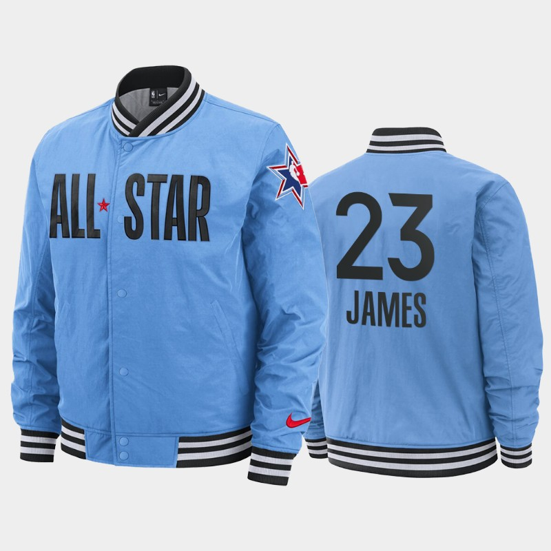 LeBron James 2020 NBA All-Star Game Courtside Full-Snap Jacket - Blue