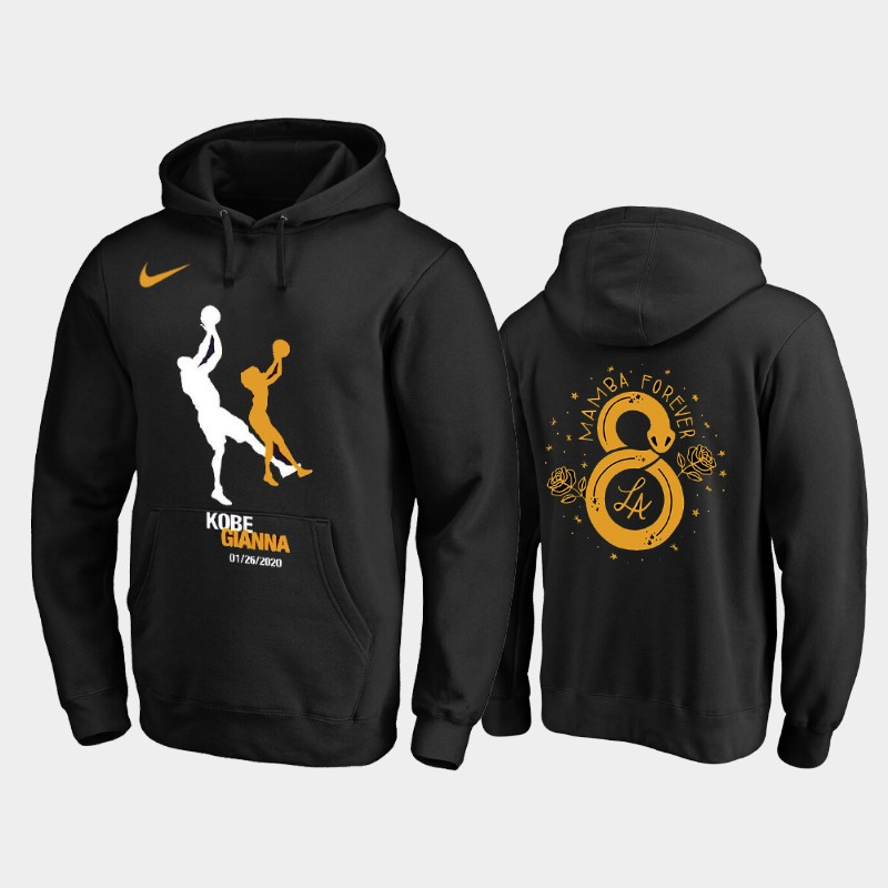 Los Angeles Lakers Kobe Bryant Rest in Peace Gigi Hoodie - Black