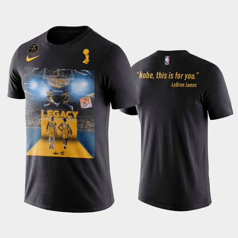 Kobe Bryant Los Angeles Lakers Black This is for You Name & Number T-Shirt